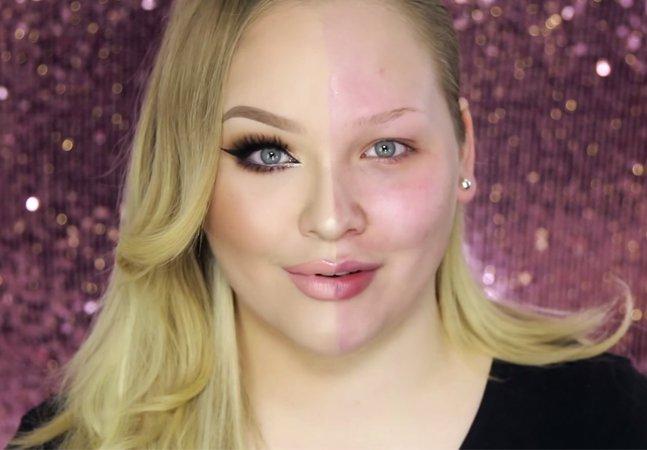 Mulheres maquiam apenas um lado do rosto para provar que são lindas de qualquer forma