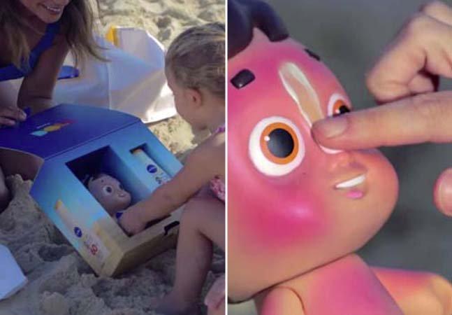 Marca encontra forma criativa de incentivar crianças a usarem filtro solar