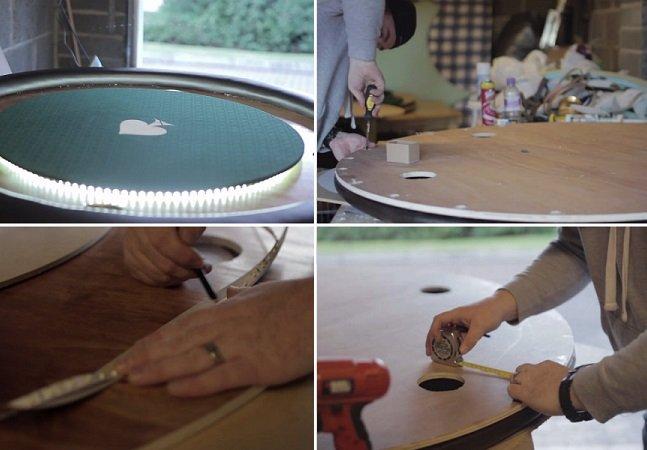 Vídeo mostra de perto como é a produção de mesas de poker artesanais na Escócia