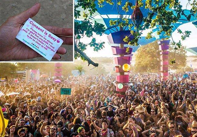 Grupo anti-estupro espalha cartões por festivais nos EUA que explicam o significado de consentimento