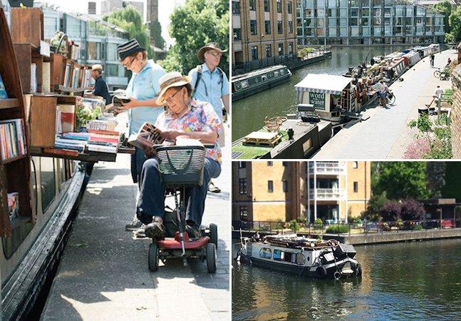 Conheça a livraria flutuante que fica em um canal em Londres
