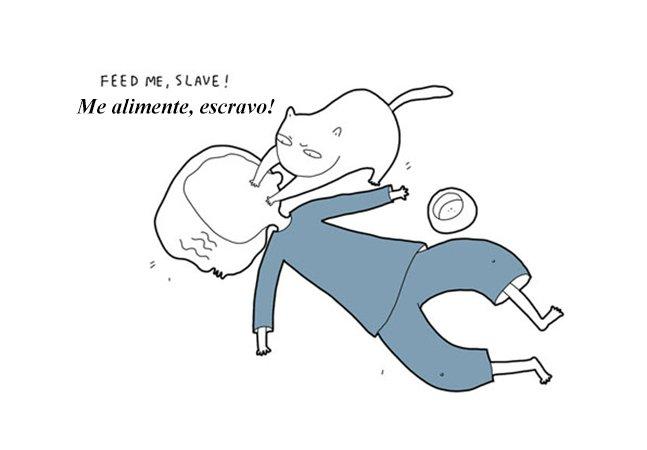 Ilustrações divertidas mostram como seria se seu gato falasse
