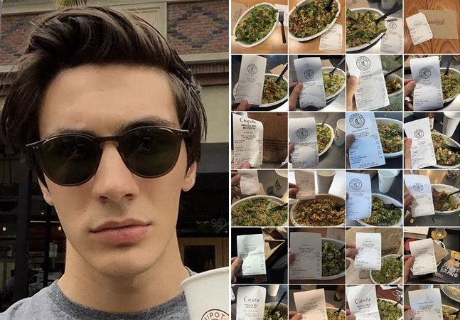 O que está acontecendo com o jovem que almoça na mesma rede de fast food há mais de 150 dias seguidos