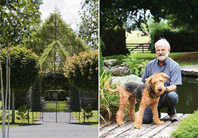Homem passa 4 anos construindo igreja feita de árvores no seu quintal