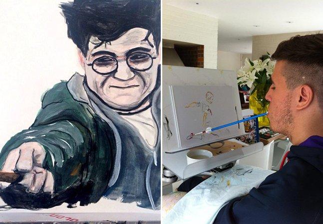 O artista de 23 anos que ficou tetraplégico, mas não desistiu da sua paixão por pintar