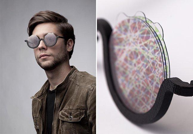 Designer cria óculos que simula a sensação de estar sob o efeito de LSD