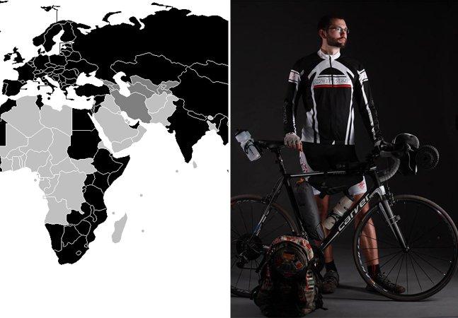 Ciclista viaja pelo mundo há 8 anos gastando cerca de US$ 15 por dia