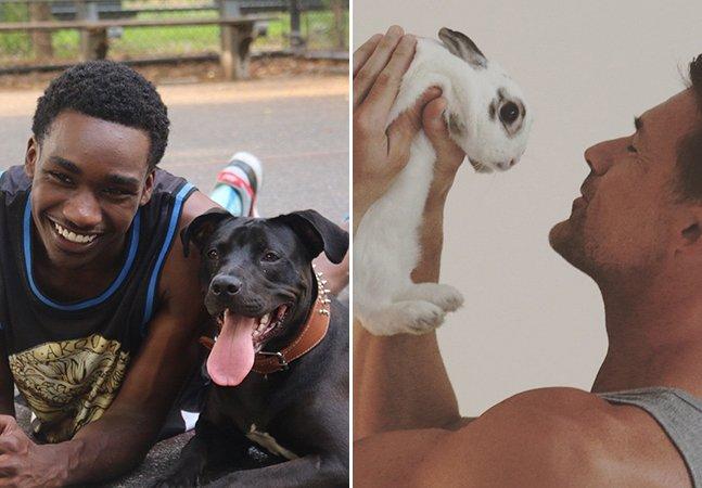 Calendário com homens bonitões e seus pets resgatados quer incentivar a adoção de animais