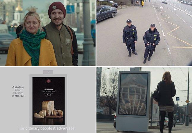 Na Rússia, outdoor inteligente muda de propaganda conforme quem está passando