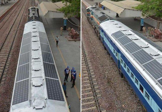 Índia tem projeto de trem que faz uso de energia solar