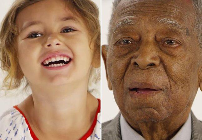 """""""O que é o amor?"""" Pessoas dos 0 aos 105 anos respondem em vídeo emocionante"""