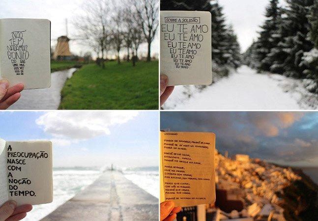 Brasileiro junta viagem, poesia e fotografia em projeto incrível pela Europa