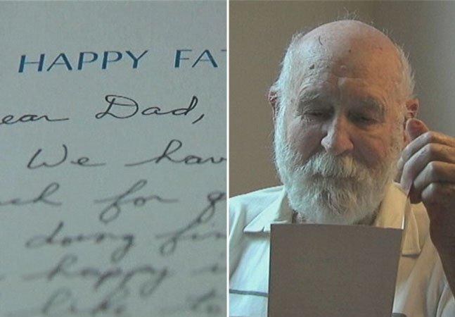 Pai recebe cartão de filho falecido 26 anos após seu envio