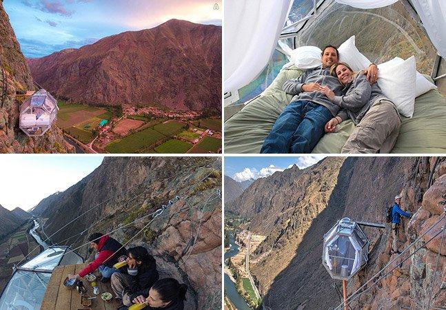 O hotel no Peru feito de cápsulas transparentes com a vista mais incrível (e assustadora!) que você já viu
