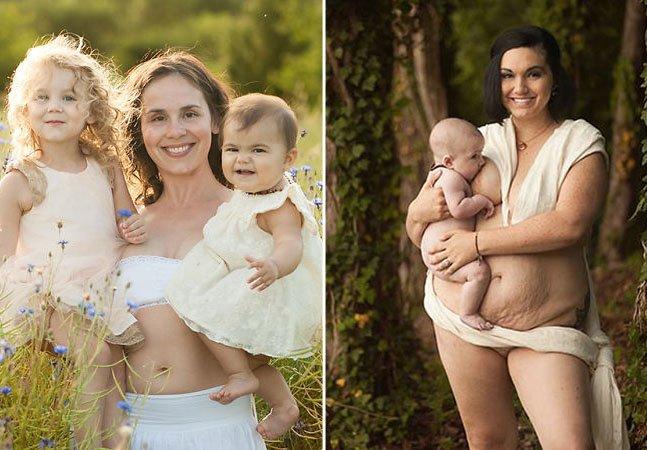 Fotógrafa quebra tabu registrando mães amamentando e suas histórias