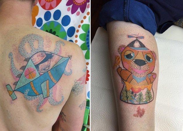 Conheça o universo lúdico e colorido do tatuador alemão Pengi