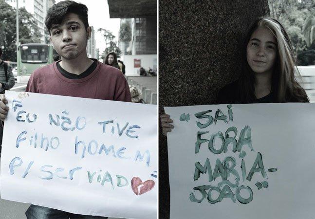 Jovens brasileiros mostram os comentários mais cruéis que já ouviram por serem homossexuais