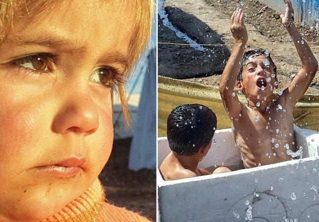 Série incrível mostra a vida de crianças sírias em um campo de refugiados em fotos tiradas por elas mesmas
