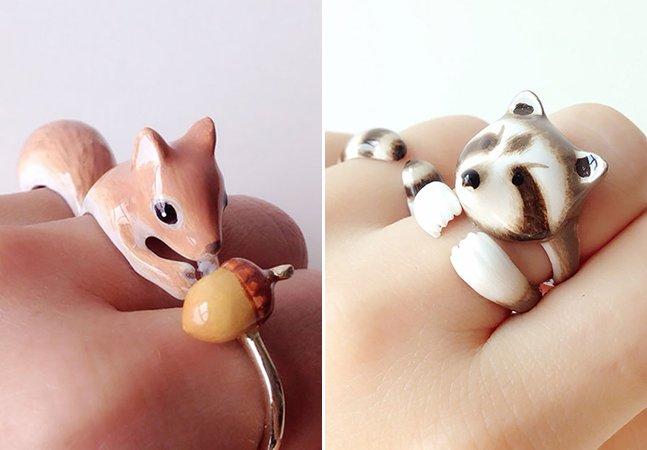 Artista usa criatividade para criar anéis de animais formados por peças que se completam