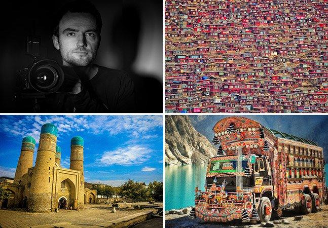 Ele largou os estudos aos 18 anos e até agora já visitou 97 países