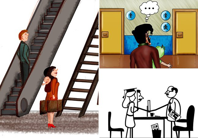 Ilustrações divertidas mostram que a luta pela igualdade de gênero está longe de acabar