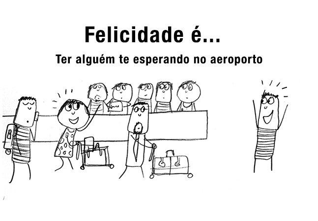 Série de ilustrações divertida mostra o que deixa as pessoas felizes pelo mundo