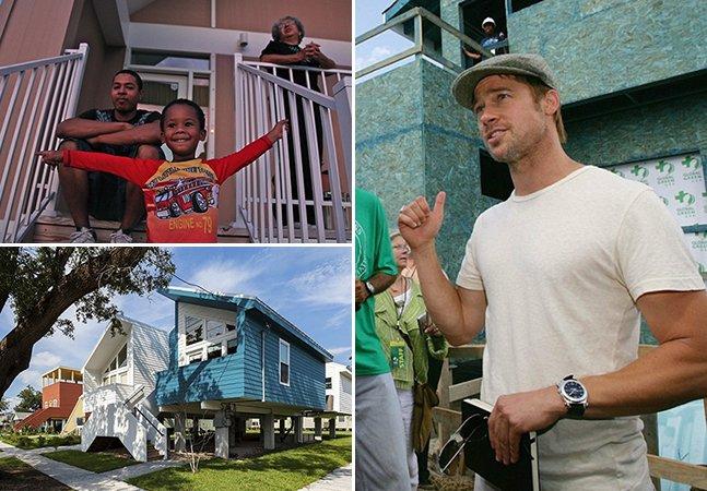 Brad Pitt constrói casas ecológicas para 109 famílias vítimas do Katrina