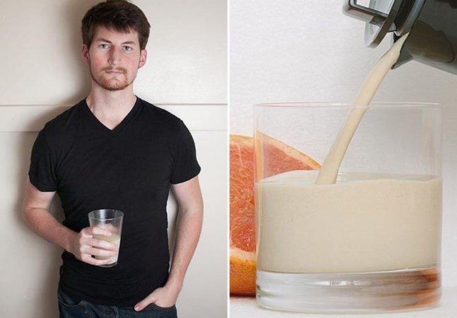 O homem que criou uma bebida para que você nunca mais precise comer (e fez o teste durante 30 dias!)