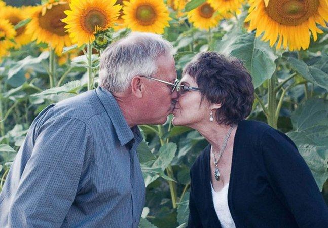 Homem planta mais de 100 hectares de girassóis em homenagem à sua mulher levada pelo câncer