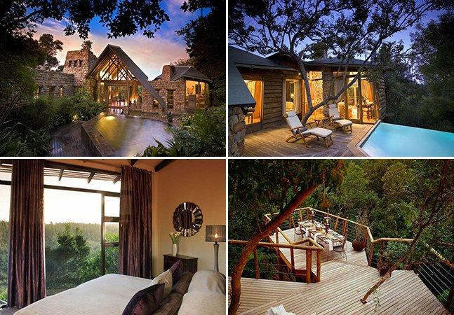 Conheça o hotel africano feito de casas na árvore dos sonhos