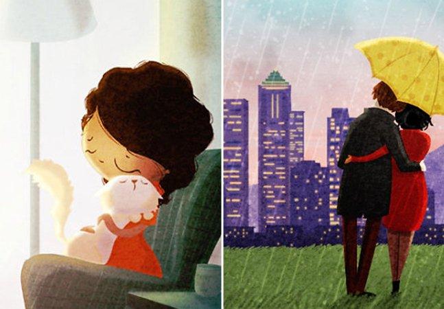 Ilustrações mostram o amor escondido nas pequenas coisas
