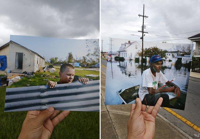 Fotógrafo que captou a destruição do Katrina volta ao local e compara o que mudou