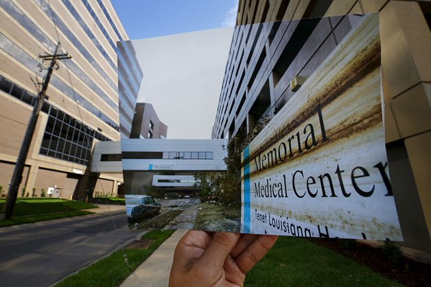 The print shows a general view of the Memorial Medical Center, September 13, 2005.