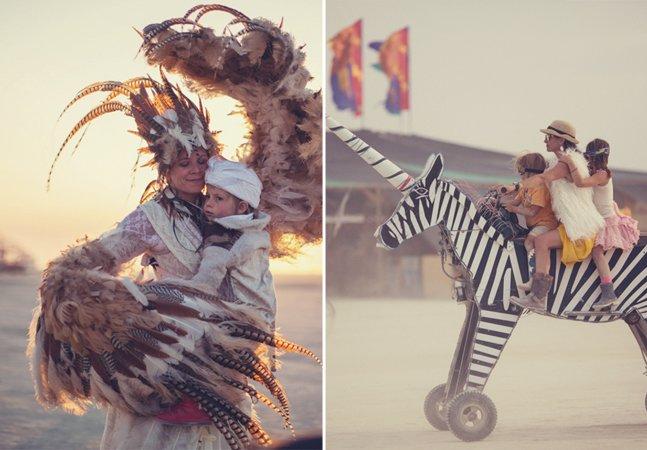 Série de fotos documenta a experiência mágica de crianças que vão ao festival Burning Man