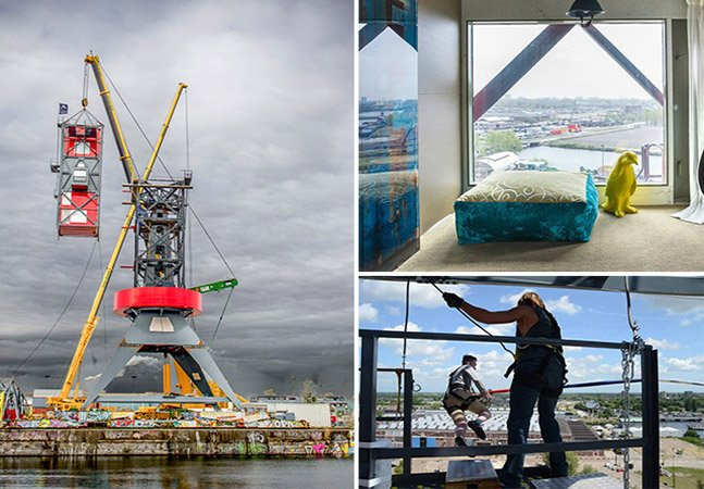 Holanda cria hotel de luxo nas alturas com bungee jump de 90 metros
