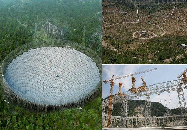 China está construindo o maior telescópio do mundo