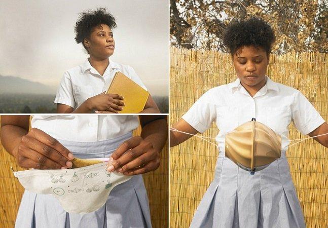 Estudante cria absorventes reutilizáveis para meninas em situação de pobreza