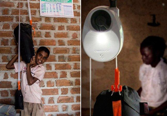 Lâmpada inovadora usa a força da gravidade pra dar luz a quem vive sem eletricidade