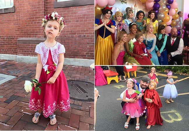 Garota de cinco anos com câncer ganha dia dos sonhos, com aniversário, baile de formatura e casamento