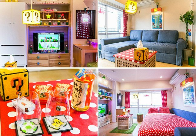 Alugar um apartamento com decoração do Mario Bros é um sonho possível