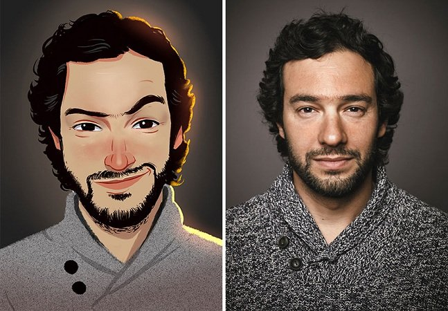 Artista brasileiro transforma fotos de pessoas comuns em divertidas ilustrações
