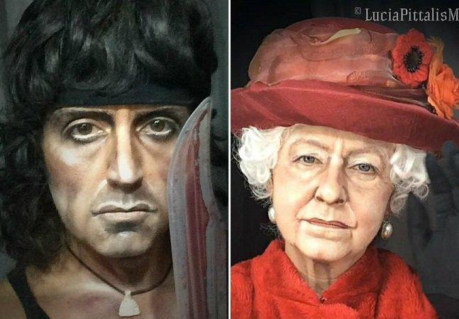 Artista usa maquiagem pra se transformar em celebridades