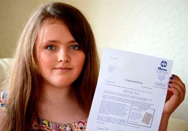 Essa garota de 12 anos tem o QI mais alto do que Einstein e Stephen Hawking