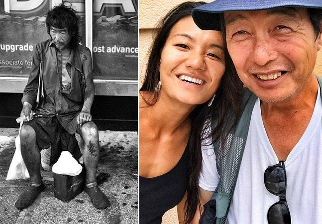 Fotógrafa passa 10 anos retratando moradores de rua e descobre o próprio pai entre eles