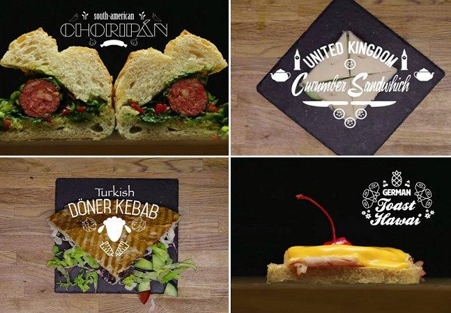#FoodPorn: vídeo mostra 13 formas de  preparar um sanduíche ao redor do mundo