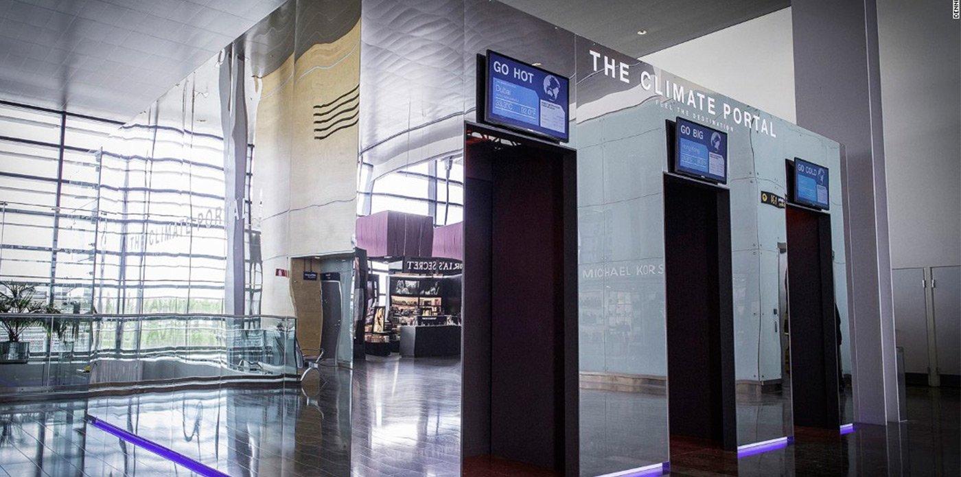 Aeroporto cria simulador de climas em diferentes países