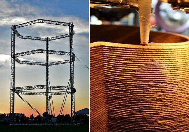 Conheça a maior impressora 3D do mundo capaz de construir casas usando materiais orgânicos