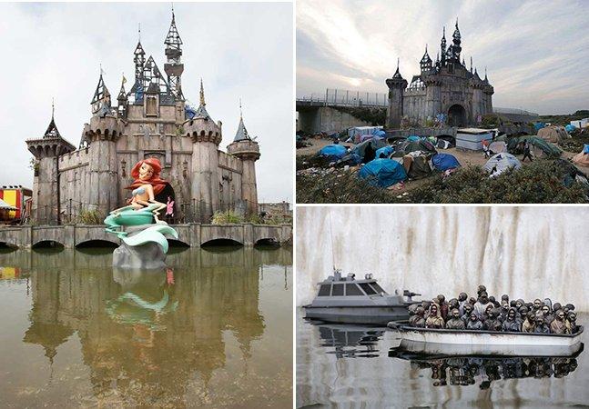 Parque temático criado por Banksy na Inglaterra será desmontado para construir abrigos para refugiados