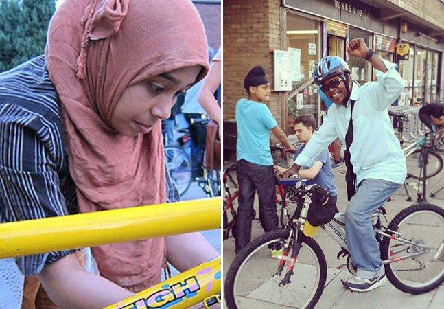 Em Londres, projeto doa bikes e ensina refugiados a consertá-las a fim de conseguirem empregos