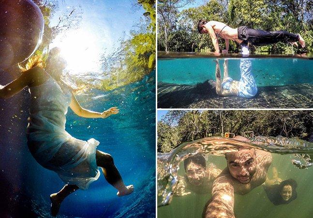Fotográfo brasileiro faz sucesso com fotos debaixo d'água em lugares exuberantes pelo país